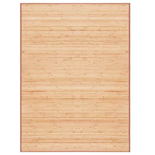vidaXL Alfombra de Bambú 160x230cm Marrón Decoración de Interior Casa Hogar
