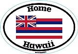 WickedGoodz Oval Hawaii Home Vinyl Decal - State Flag Bumper Sticker - Hawaii Sticker