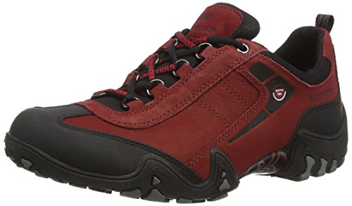 Allrounder by Mephisto Damen FINA-TEX Sneaker, Rot (Black/MID RED), 38