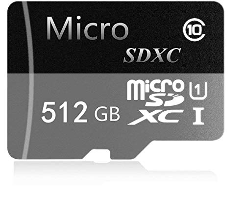 Genericca Micro SD-kaart 256 GB/400 GB/512 GB, Micro SDXC UHS-I-kaart Hoge snelheid Geheugenkaart Digitale Camera's Cellular -Telefoons-Tablet GPS PC's Klasse 10 Full HD Video