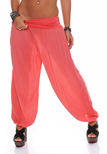 pequeño y compacto Marit Bloomers Aladdin Harlem Friend Buggy Yoga Pantalones 1482 Mujer Talla única (Coral)