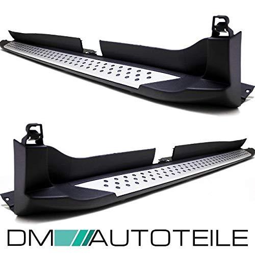 DM Autoteile SET ALUMINIUM Trittbretter Einstieg + Anbaumaterial passt für X3 F25 10-17