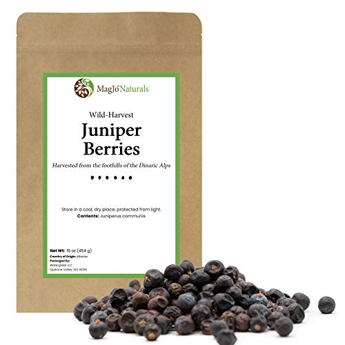 MagJo Naturals, Whole Dried Juniper Berries, Wild-Crafted