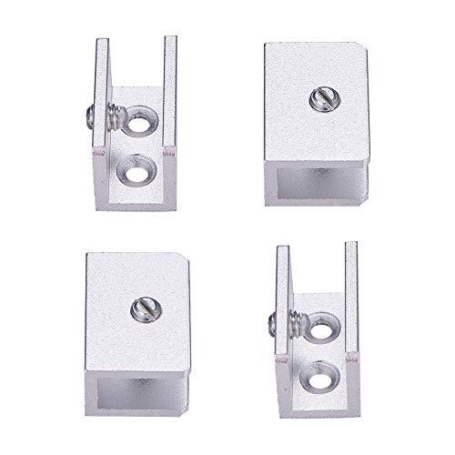 INCREWAY Soporte de pared ajustable de aleación de aluminio y cristal, soporte de pared para vidrio de 6 a 10 mm de grosor (rectángulo)