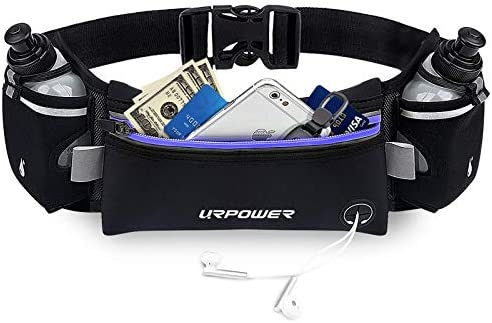 URPOWER Upgraded Running Belt with Water Bottle Running Fanny Pack with Adjustable Straps Large product image