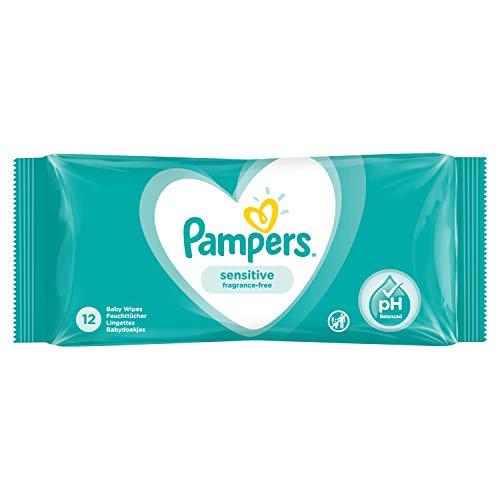 Pampers Sensitive Feuchttücher Feuchte Tücher Travelpack 12 Stück