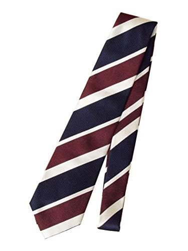 [シップス] SUNAGO REPP ワイドストライプ ネクタイ 118232560 ワンサイズ ネイビー ブルー 青