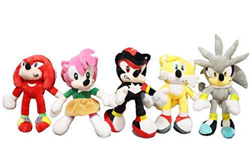 Doll Toys 5pcs/lot Stuffed Plush Toys Cartoon Animal Backpack Blue Hedgehog Sonic Cute Anime Home Decorative Pet Doll Gift Toys for Children