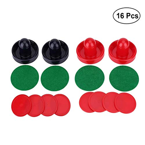 Yeelan Air Hockey Pushers & Pucks 2 Sätze, groß (2 Navy Pushers + 2 Red Pushers + 4 Lints + 8 Red Pucks)