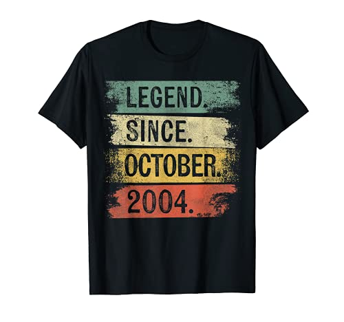 Leyenda desde octubre de 2004 15 años regalos de cumpleaños Camiseta