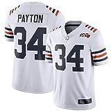 Camiseta de los hombres de fútbol americano uniformes de los osos Chicago #34 Payton Fútbol Jerseys Gruby Camisetas