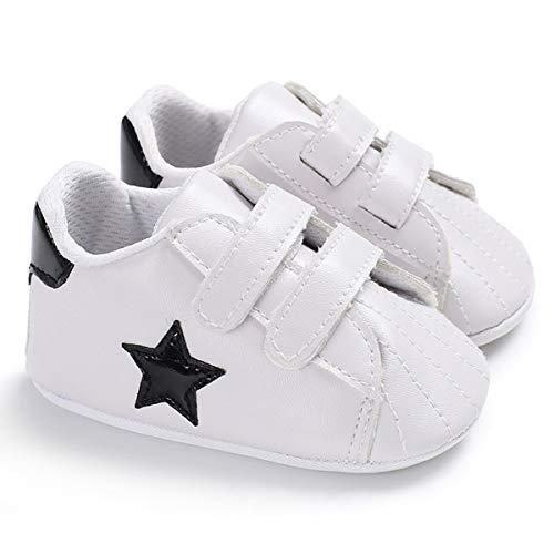 Chennie Neugeborenes Baby Jungen Premium Star Weiche Sohle Infant Prewalker Kleinkind Turnschuhe Krippe Schuhe (Color : Black, Size : 6-12 Months)
