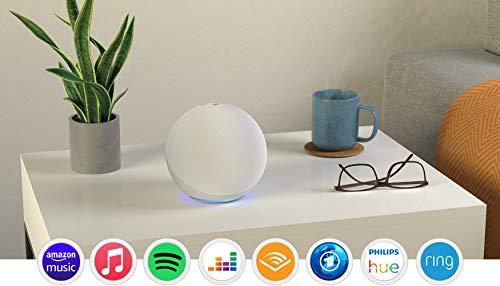 Der neue Echo (4. Generation), Weiß + Amazon Smart Plug (WLAN-Steckdose), Funktionert mit Alexa