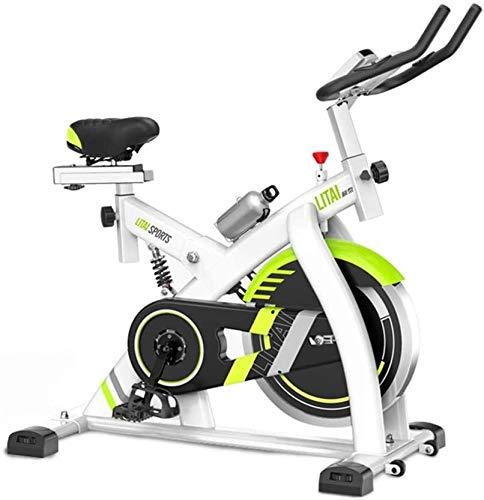 Bicicleta estática, cubierta ciclo de la bici, Silent bici del ciclo de la correa de transmisión con un manillar y asiento ajustable, 8Kg volante, el monitor LCD, la aptitud Bici Y Ab Trainer, equipam