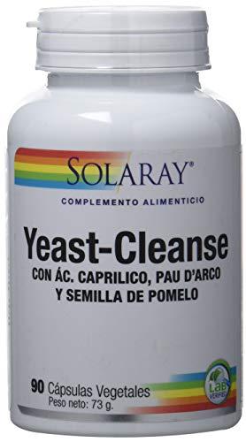 Solaray Yeast Cleanse | Ácido Caprílico, Pau D'arco Y Semilla de Pomelo | 90 VegCaps