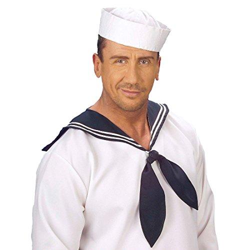 NET TOYS Matrosen Mütze Seemann Hut weiß Marine Kopfbedeckung Seemannsmütze Sailor Schiffchen Matrosin Matrose Kostüm Zubehör