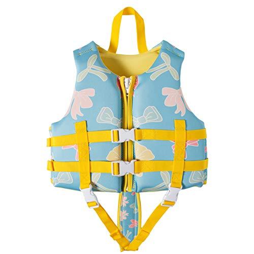 Chaleco De Baño para Niños Chaleco Salvavidas De Neopreno Premium Asistencia De Flotabilidad Certificación De La UE CE para Surfear, Kayak, Natación, Deporte De Agua De Verano,Horse,M