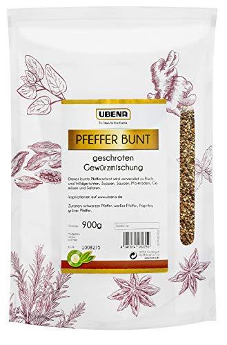 UBENA Pfeffer bunt geschrotet im wiederverschließbaren Vorratsbeutel, 1er Pack (1 x 900 g)