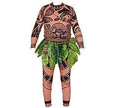 xuemegongsi Adulto Hombres Mujeres Bebé Niños Moana Maui Tatuaje ...