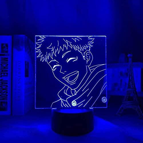 Uchiha Sasuke Naruto Anime Figura 3D LED noche lámpara 3D LED lámpara de mesa para bebé niños cumpleaños decoración dormitorio Touch Control lámpara 7 colores