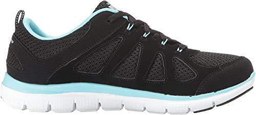 Skechers 12761 Damen Sneakers Schwarz/Türkis, EU 39