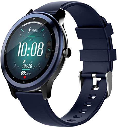Reloj inteligente Fitness Tracker pantalla táctil completa reloj deportivo rastreador de actividad con monitor de ritmo cardíaco sueño SMS notificación de llamada IP68 impermeable-B