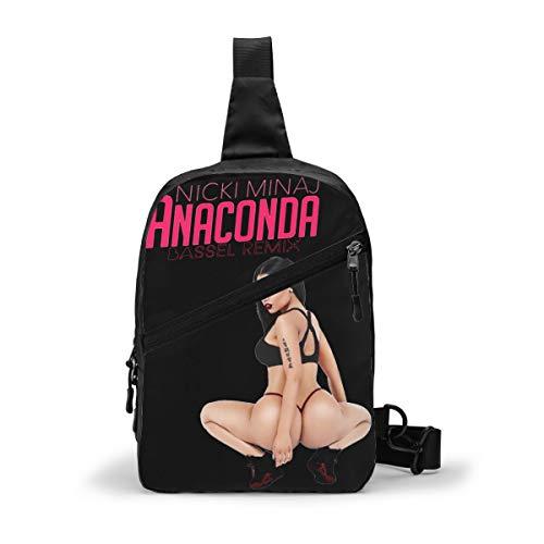 nicki minaj anaconda Black Backpack Multipurpose Crossbody Shoulder Bag Travel Hiking Daypack