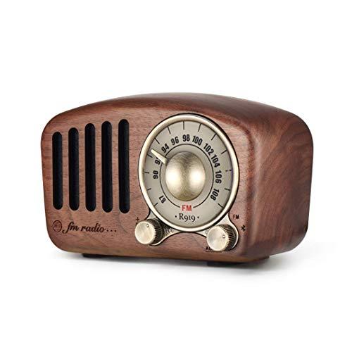 Radio portátil Vintage, Altavoz Bluetooth Retro, Radio FM