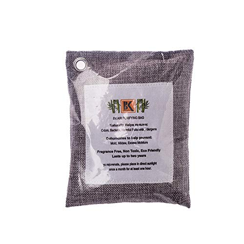 Great Features Of KISFLY Bamboo Charcoal Air Purifying Bag (2-Pack) Activated Bamboo Charcoal Deodor...