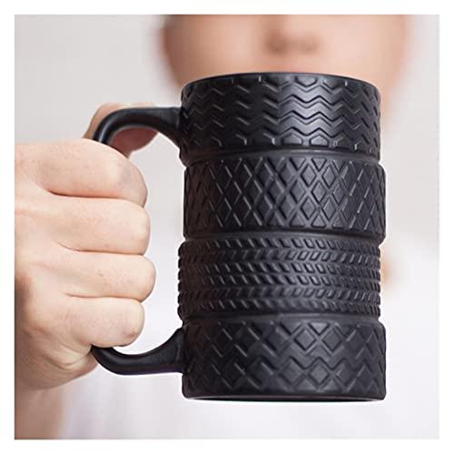 YUANLIN porzellantasse 350ml Kreative Reifen Keramik Becher Große Kapazität Porzellan Kaffee Milch Tee Black Cups Neuheit Geschenke porzellantasse Bone China