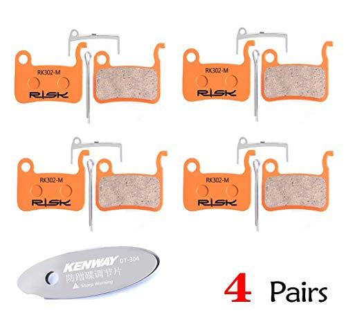 CYCOBYCO 4 Pares de Pastillas de Freno de Disco de Bicicleta para Shimano XTR M965 M966 M975, Saint M800, Deore XT M765 M775 M776, SLX M665, Deore LX M585 T665 (M975 Sintered-Metal)