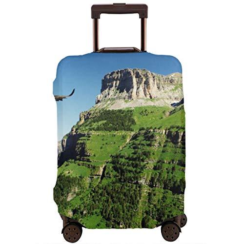 Reizen koffer beschermer, Wild Majestic Bird vliegen grote landschappen groene bergen bos natuur beeld, koffer Cover wasbare bagage Cover