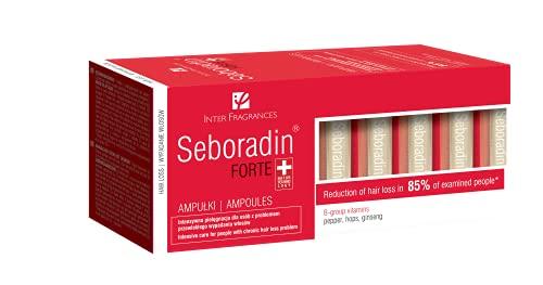Seboradin Forte Serum, Übermäßiger Chronischer Haarausfall und Verdünnung, Stimulierendes Haarwachstum, mit Natürlichen Extrakten und Vitaminen, Schweizer Naturtechnik (14 x 5,5 ml)