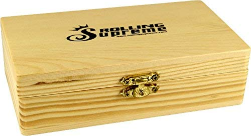 RS Jointbox Holzbox 155 x 85 x 48mm - 3 Fächer inkl. Geheimfach Rollbrett medium