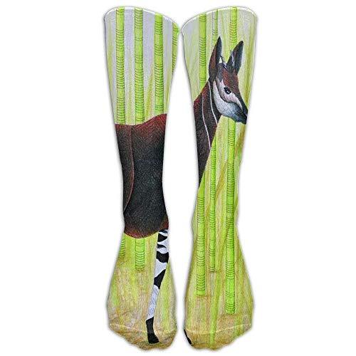 Komfort Sportliche Damenstrümpfe Schutz Okapi Giraffen Atmungsaktive Sportsocken Kniewarm One Size