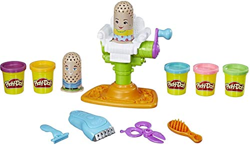 Play-Doh E2930 Buzz 'n Cut Fuzzy Pumper Barber Shop Toy with Electric Buzzer and 5 Non-Toxic Colors, 2-Ounce Cans