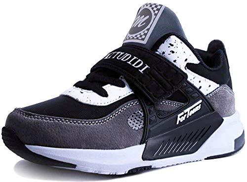 Zapatillas Running Niño 28 Infantil Zapatillas Sneakers Unisex Zapatos Deportivos Running Shoes Calzado Trekking Ligero Transpirables Gris ⭐