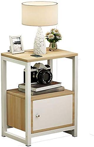 Europ che M l, einfache Nachttisch, Holz Sofa Seite Schrank Multifunktionsschrank, leicht zu reinigen warmWeiß Lange 35cm  Breit30cm  H  5cm