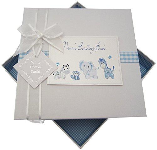White Cotton Cards Nana S Boasting Book Medium Album Jouets (Bleu)