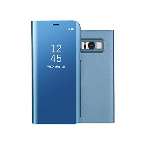 Aursen Custodia Samsung S8 Plus Cover a Specchio Samsung Galaxy S8 Plus Ideale per porteggere Telefono - Azzurro