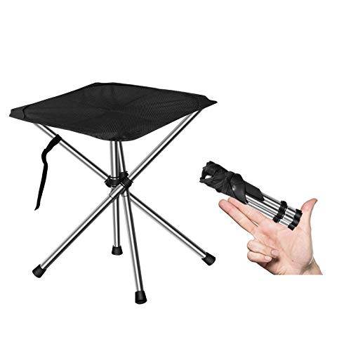 Generic Camping Stool Chair Heavy Duty 440lbs with Compact Carry Bag SupperLightweight Portable Folding Travel Chair Perfect for Picnic Travel Hiking Fishing Unfolded Size 126X126X138inches