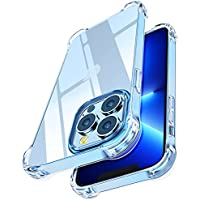 """Shock-Absorbing Corners Case for 6.1"""" Apple iPhone 13 Pro (Clear)"""