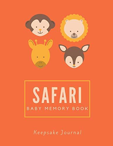 Safari Baby Memory Book / Keepsake Journal: 8.5' x 11'   120 Pages (Baby...