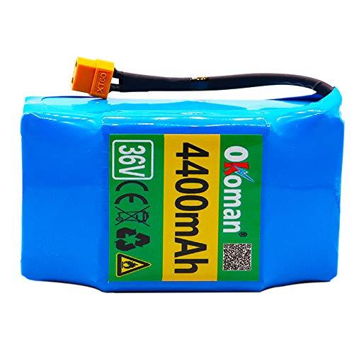Batería Hoverboard 36V 4400mah Alto Consumo de energía Scooter eléctrico de 2 Ruedas autoequilibrado 18650 batería de Litio