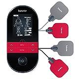 Beurer EM 59 Heat digitales TENS / EMS Gerät, 4-in-1 Reizstromgerät zur Schmerztherapie, Muskelstimulation, Massage und Wärmetherapie, inkl. 4 Elektroden und Akku