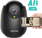 Netvue Cam¨¦ra PTZ 1080P Compatible avec Alexa Echo Show Cam¨¦ra d?me IP sans Fil avec Vision Nocturne Infrarouge pour la...