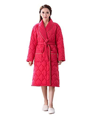 MedusaABCZeus Kleider Robe Bademantel Loungewear,Nachthemd Damen dick und samt Gesteppte Pyjamas Herren Bademantel-C_Large,Bademantel Kimono Robe Negligee
