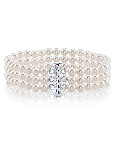 Triple Freshwater Cultured Pearl Bracelet by The Pearl Source