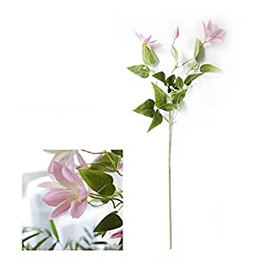 TRRT Fake Plants Lotus Artificial Silk Flowers, Green Leaves Plants, Home Hotel Wedding Decoration Fake Flower (Color : Pink)