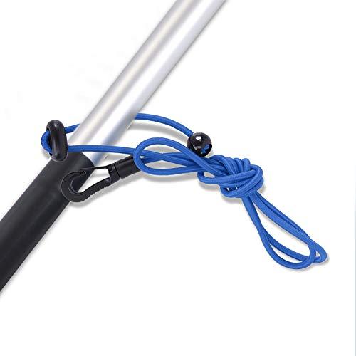 Correa de Paleta de navegación, Correa de Paleta de Kayak Ajustable Varilla de Seguridad para Tabla de Surf para remar(Azul)